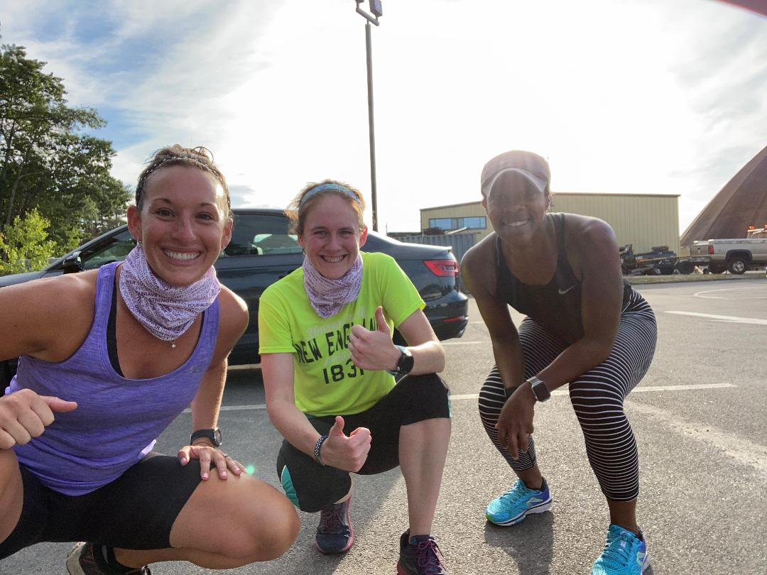 After running the Team Make Your Mark Virtual 6 miler to support the fight to end lupus! Sporting our lupus warrior buffs.