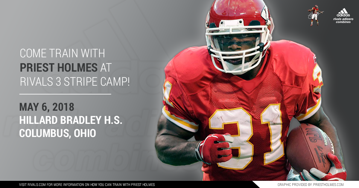 Priest Holmes Rivals 3 Stripe Camp - Columbus OH: Hillard Bradley H.S. | Priest Holmes Official Website
