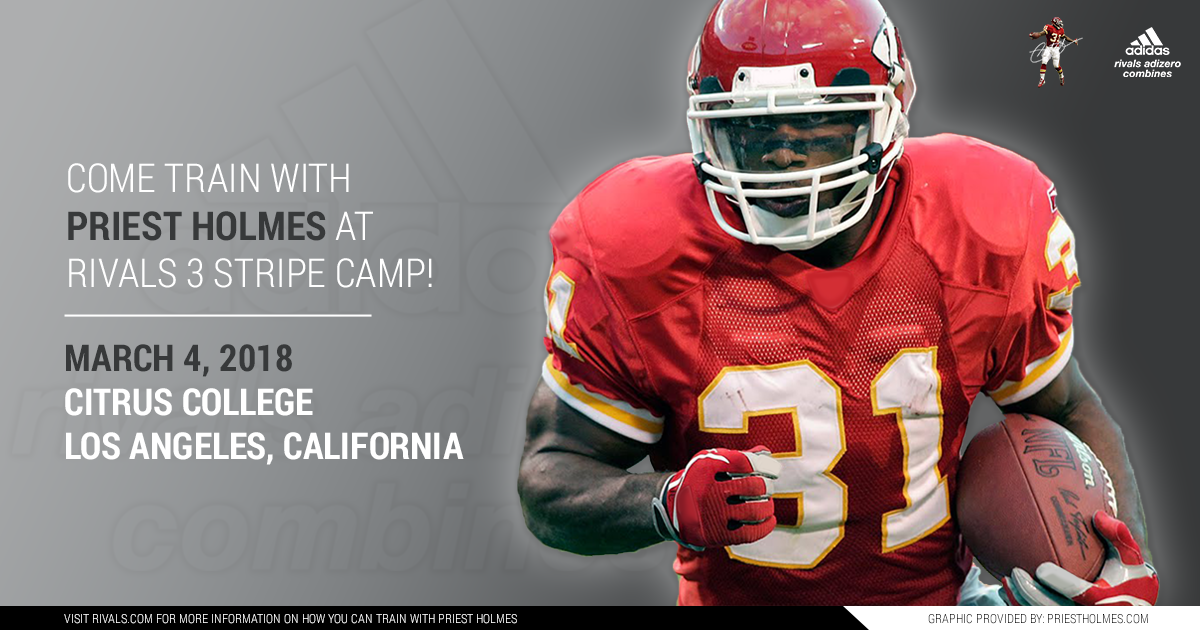 Priest Holmes Rivals 3 Stripe Camp - Los Angeles CA: Citrus College | Priest Holmes Official Website