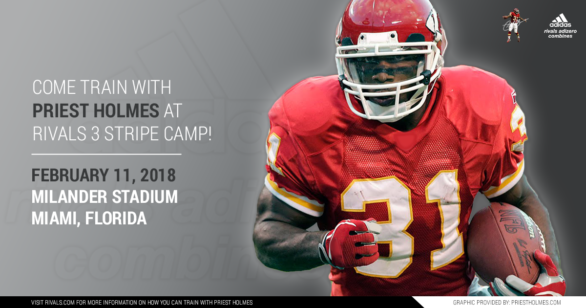 Priest Holmes Rivals 3 Stripe Camp - Miami FL: Milander Stadium | Priest Holmes Official Website