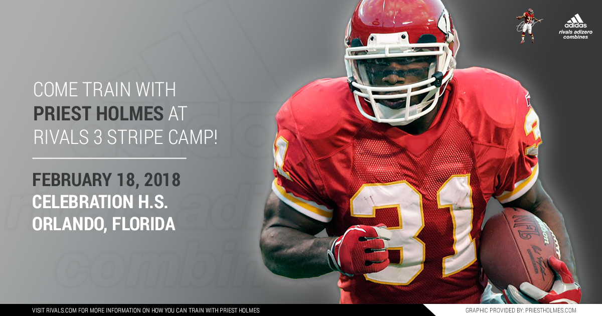 Priest Holmes Rivals 3 Stripe Camp - Orlando FL: Celebration HS | Priest Holmes Official Website