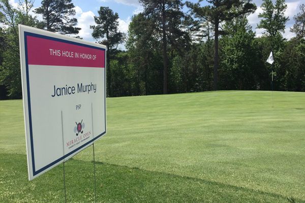 Miracle Open Hole in Honor of Janice Murphy   Miracle Open 2017   Miracle for Mom   Priest Holmes