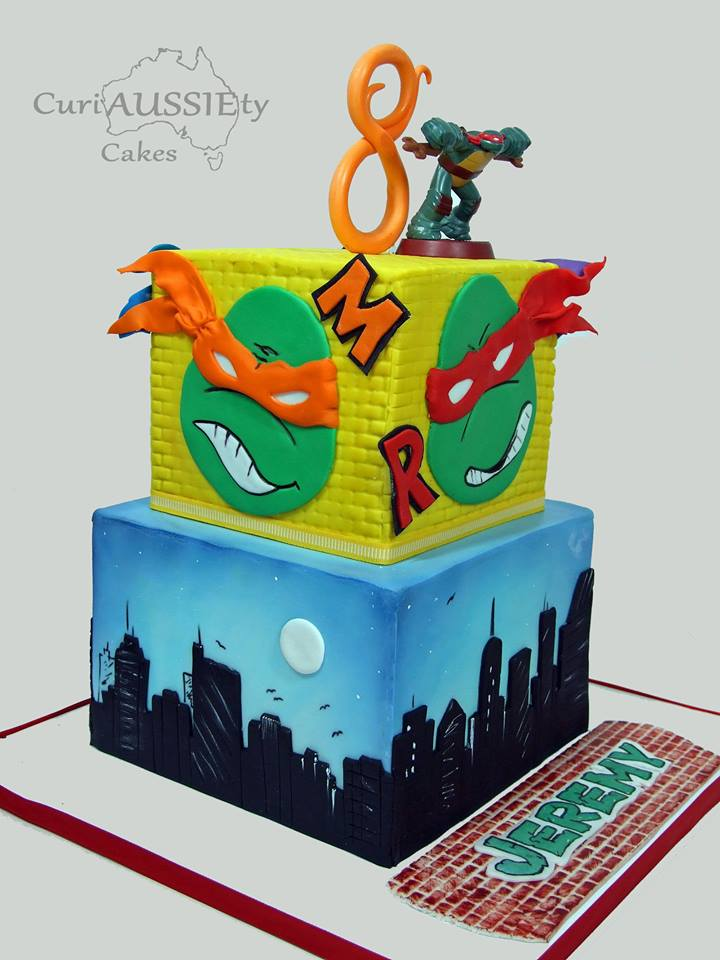 Ninja Turtle Cake by Sharon Spradley