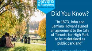 Did You Know? High Park's Public Parkland