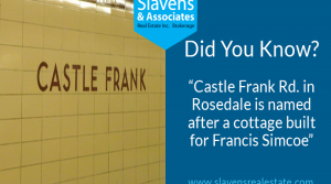 Did You Know? Castle Frank Rd. is Named After a Cottage