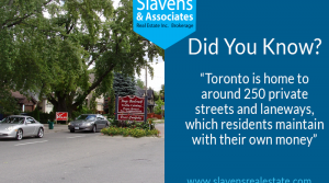 Did You Know? Toronto's Private Streets