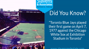 Did You Know? Toronto Blue Jay's First Game