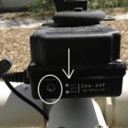 Actuator valve control switch