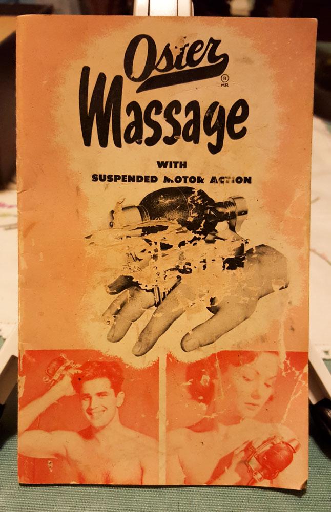 Oster Stim-u-Lax Massager manual cover