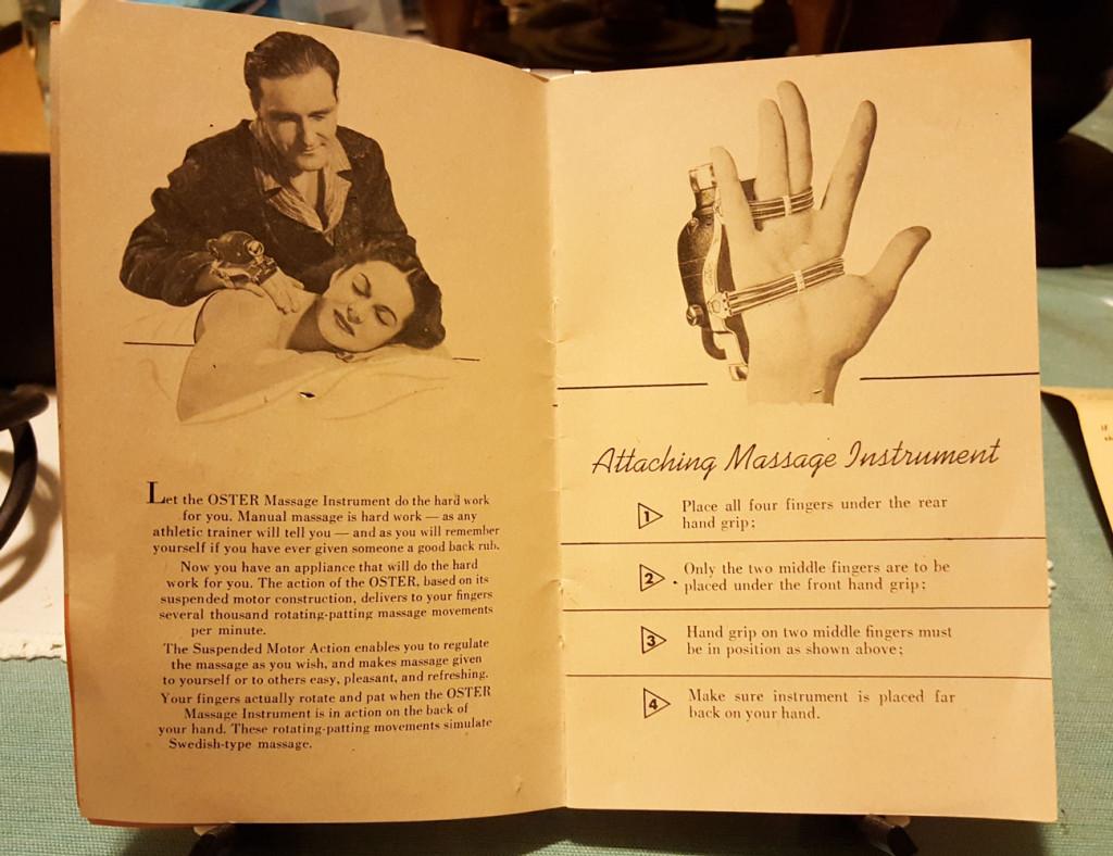 Oster Stim-u-Lax Massager manual pages