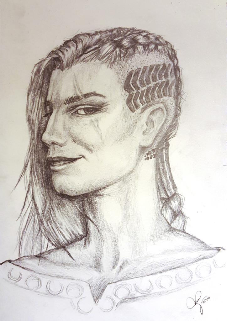 Kadrian Ayzhus sketch: final version by Eris Adderly