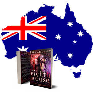 The Eighth House paperback is now available in the Amazon Australia store.
