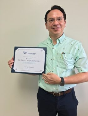 Dr. Dominguez was recently recognized by the Humane Society of the United States for his work combating animal cruelty.