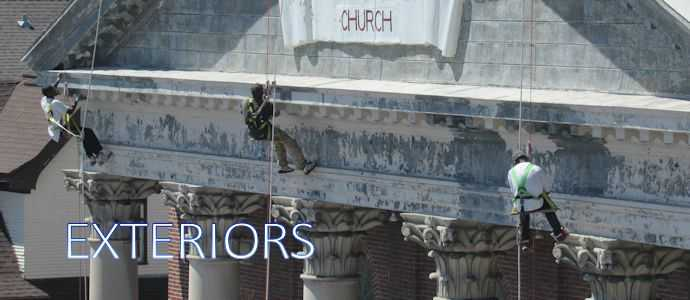 Church exterior painting and restoration