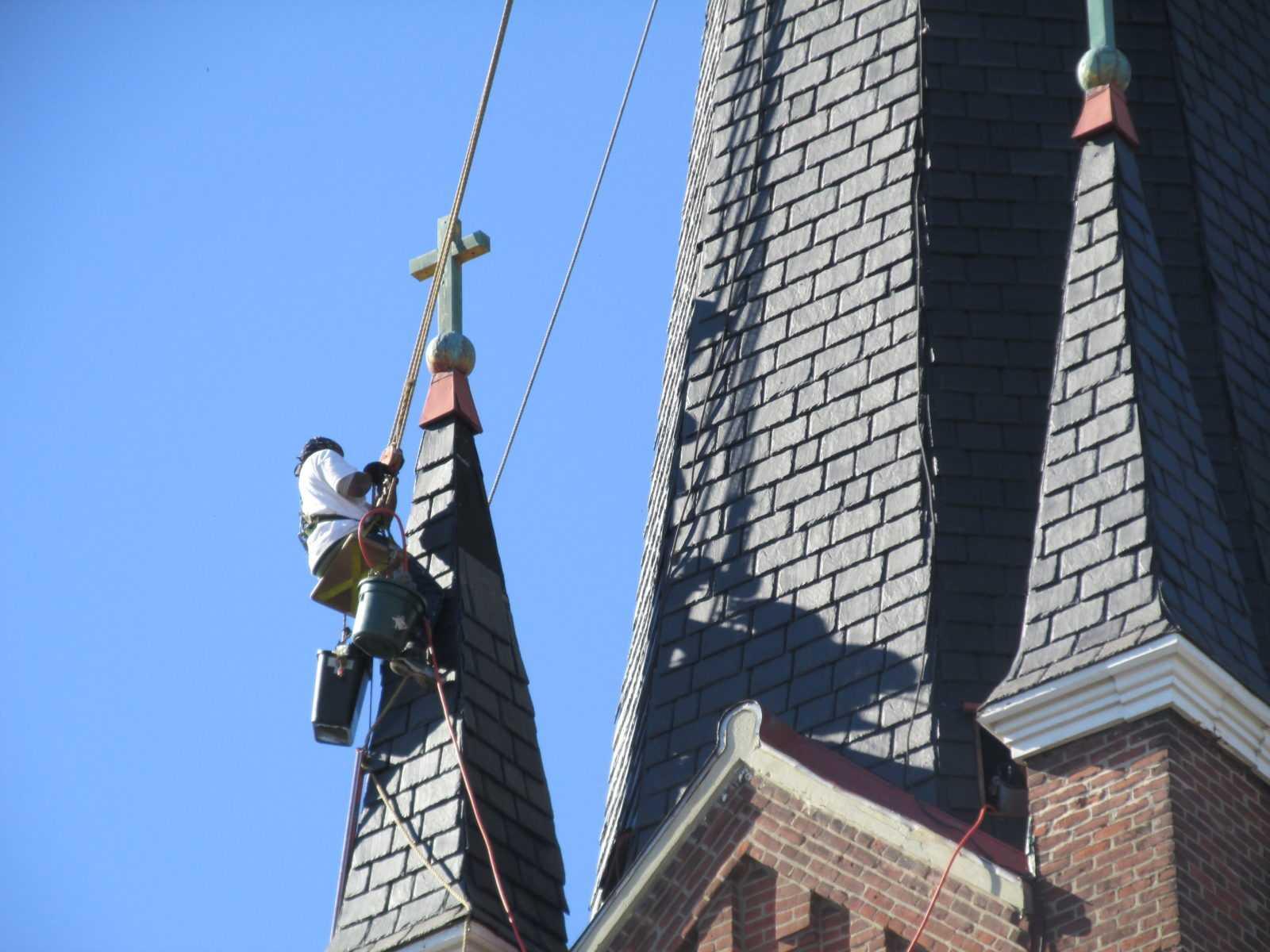 Steeplejack roofers