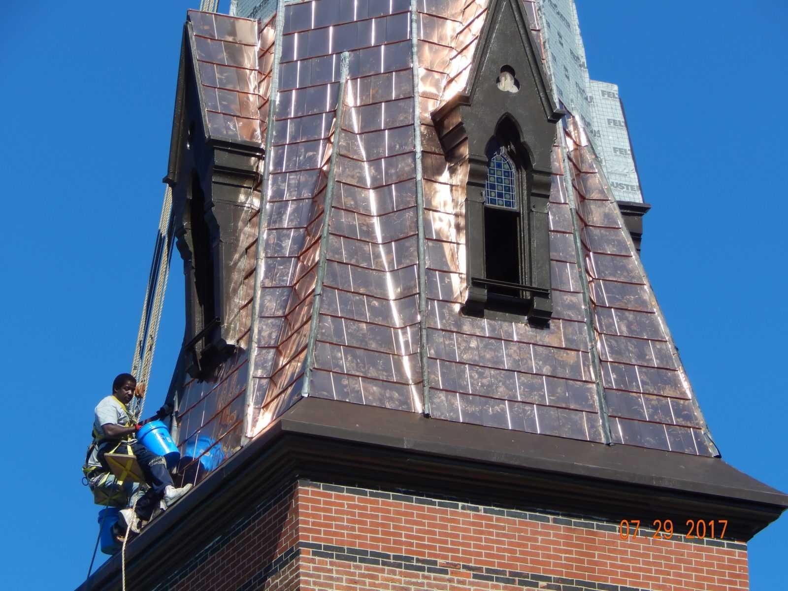 Church Steeple Roofer