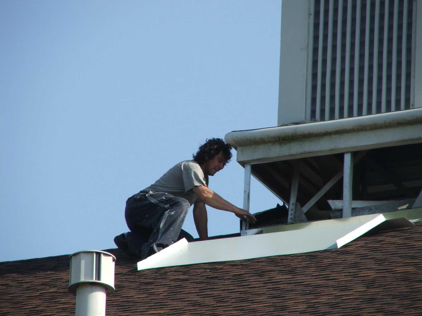 Repairing steeple leaks
