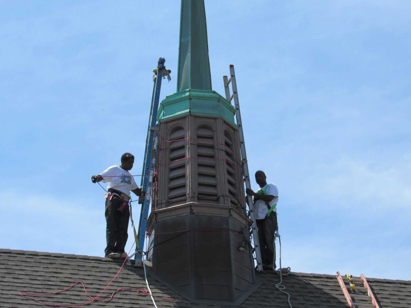 Repair leaking steeple