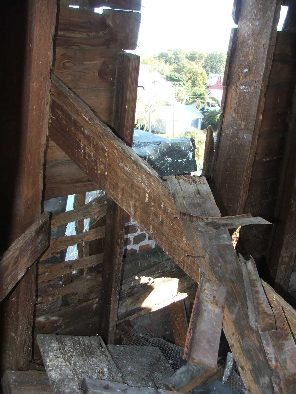 Structural steeple repairs
