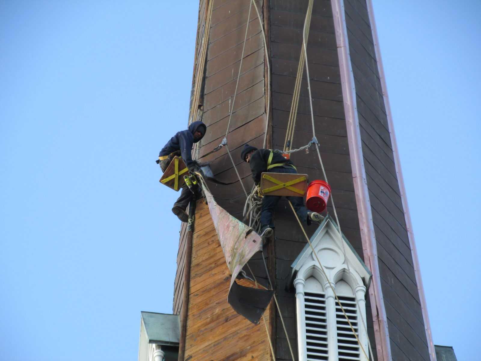 Repairing etal steeple
