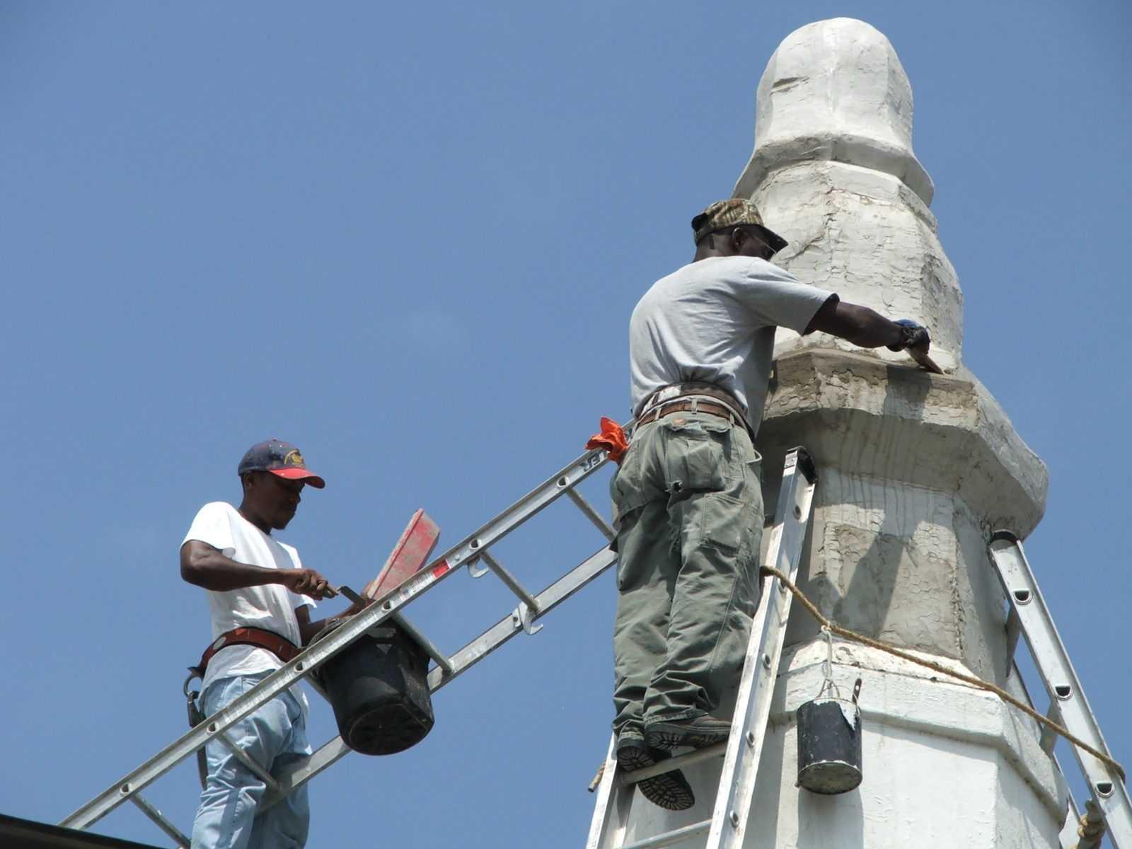 Stucco Finial Repair