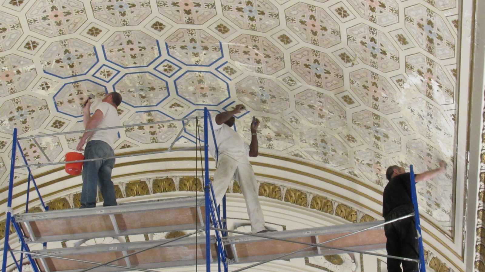 Restoring Sanctuary Ceiling
