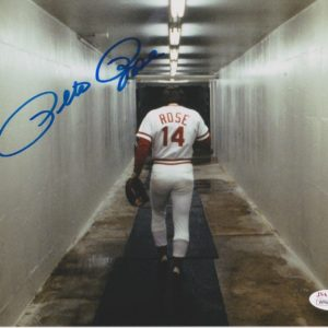 Pete Rose Autographed 8×10 Photo Walking Away