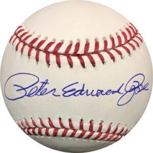 Peter Edward Rose Autographed Full Name Baseball OMLB Pete Rose Authentication