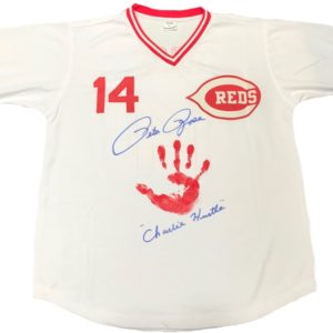 Pete Rose ORIGINAL HAND PRINT White Jersey – Autographed