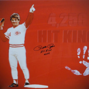 Pete Rose HAND PRINT 31×21 Canvas – Passing Cobb Pose