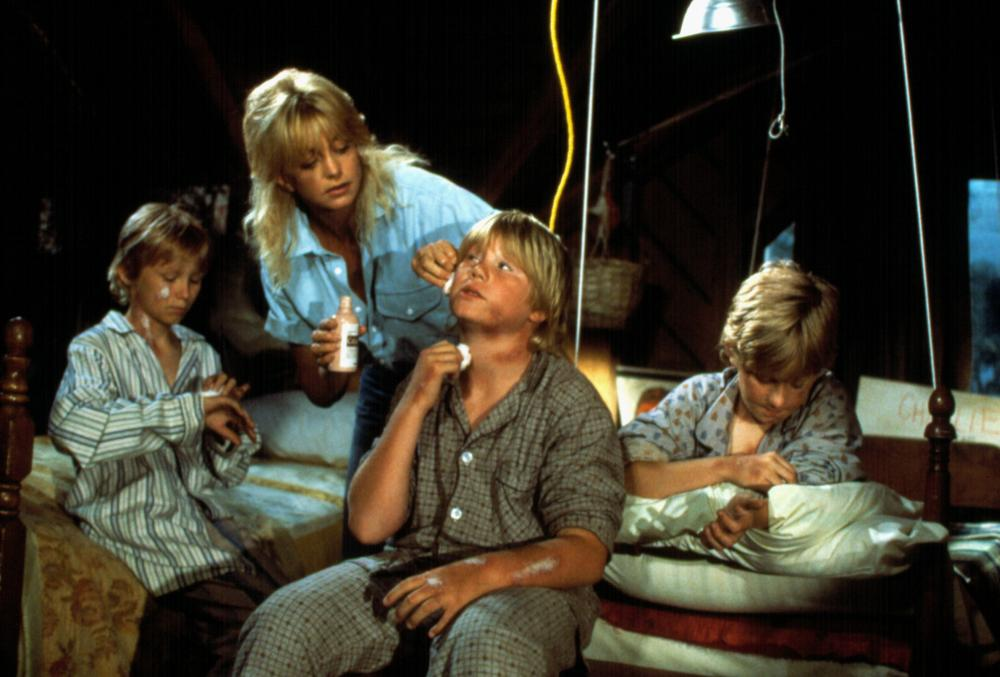 Goldie Hawn is tricked into believing she is the mother of four wild boys.