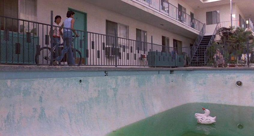 Karate Kid South Seas Apartments pool