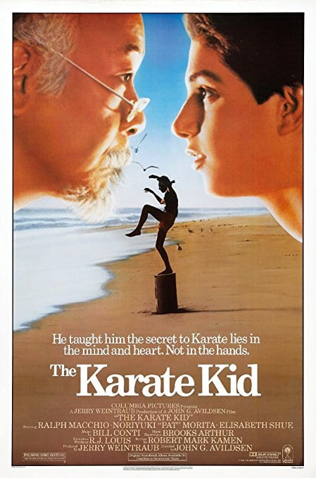 karate kid movie poster ralph macchio pat morita