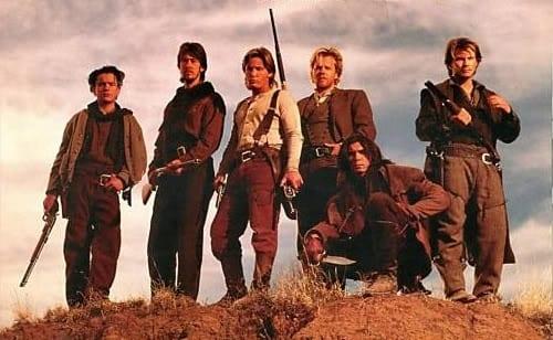 Young Guns 2, Christian Slater, Alan Ruck and Balthazar Getty Emilio Estevez, Kiefer Sutherland, Lou Diamond Phillip