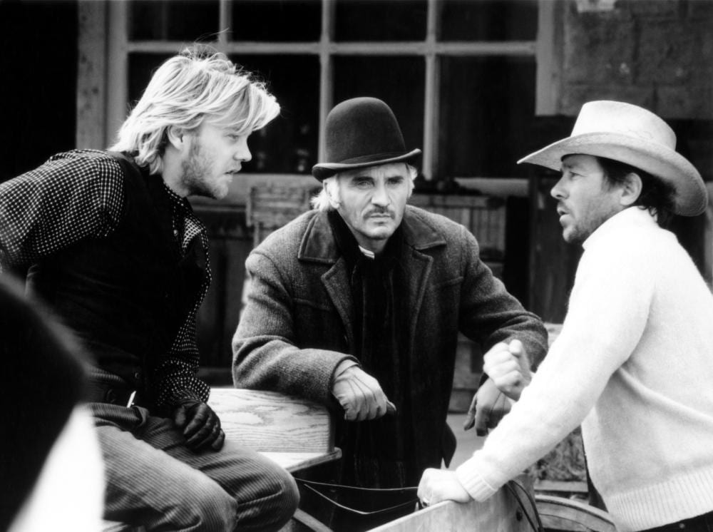 YOUNG GUNS, Kiefer Sutherland, Terence Stamp, Christopher Caine, 1988