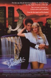 splash tom hanks daryl hannah movie poster