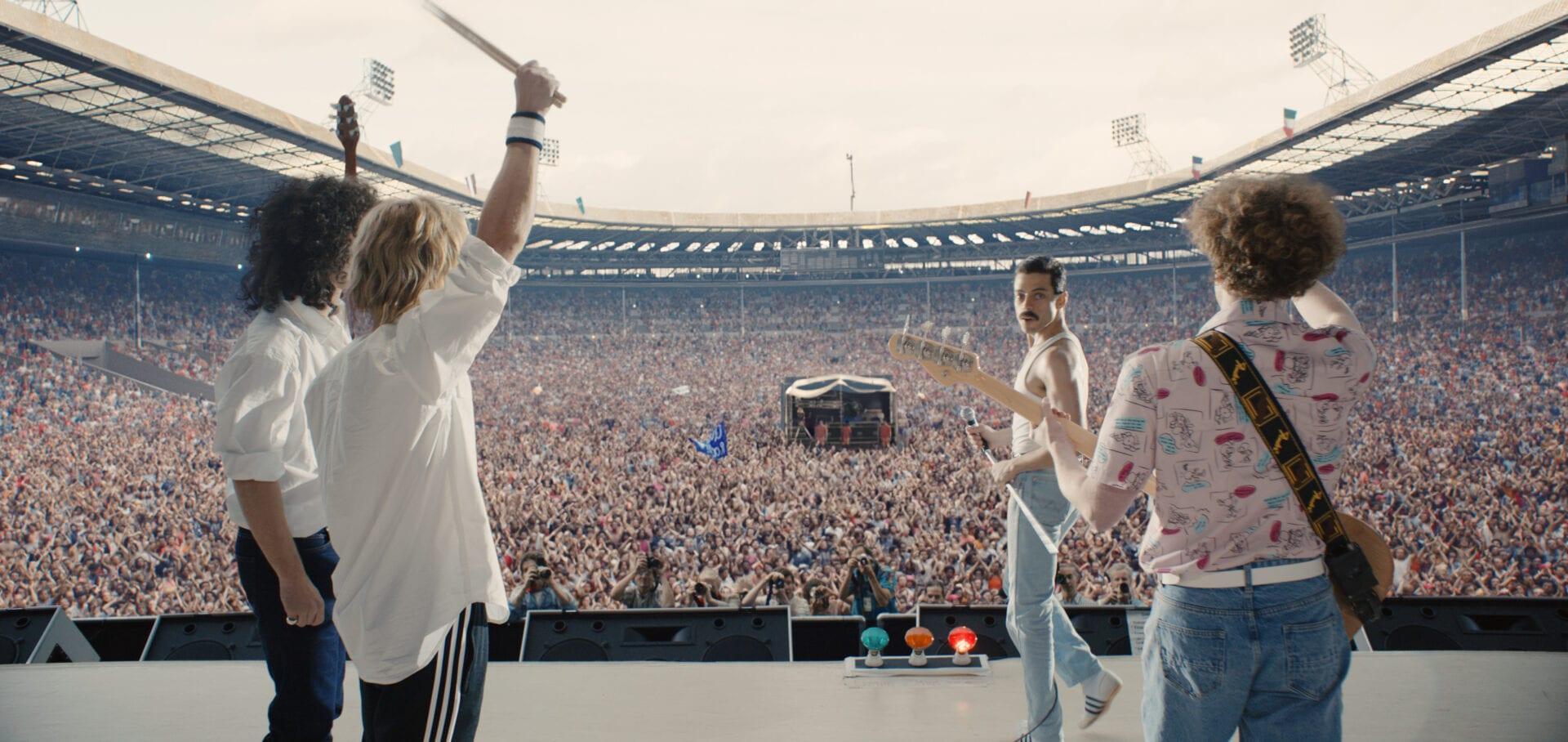 bohemian rhapsody queen live aid wembley stadium