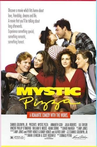 Julia Roberts, Lili Taylor, Annabeth Gish, Vincent D'Onofrio and William Moses star in MYSTIC PIZZA