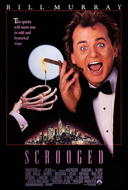 scrooged, bill murray, 1988, christmas movie