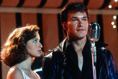 dirty dancing patrick swayze jennifer grey johnny takes the stage and mic