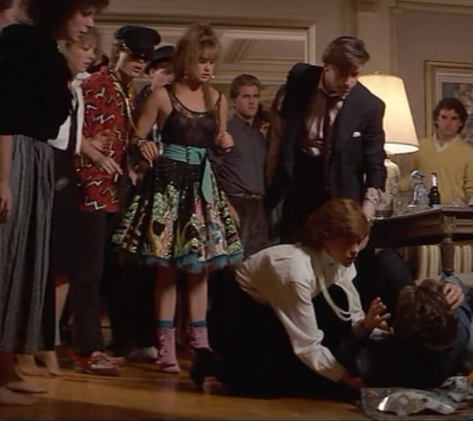 Demi Moore Judd Nelson Ally Sheedy Andrew McCarthy punch ST ELMO'S FIRE