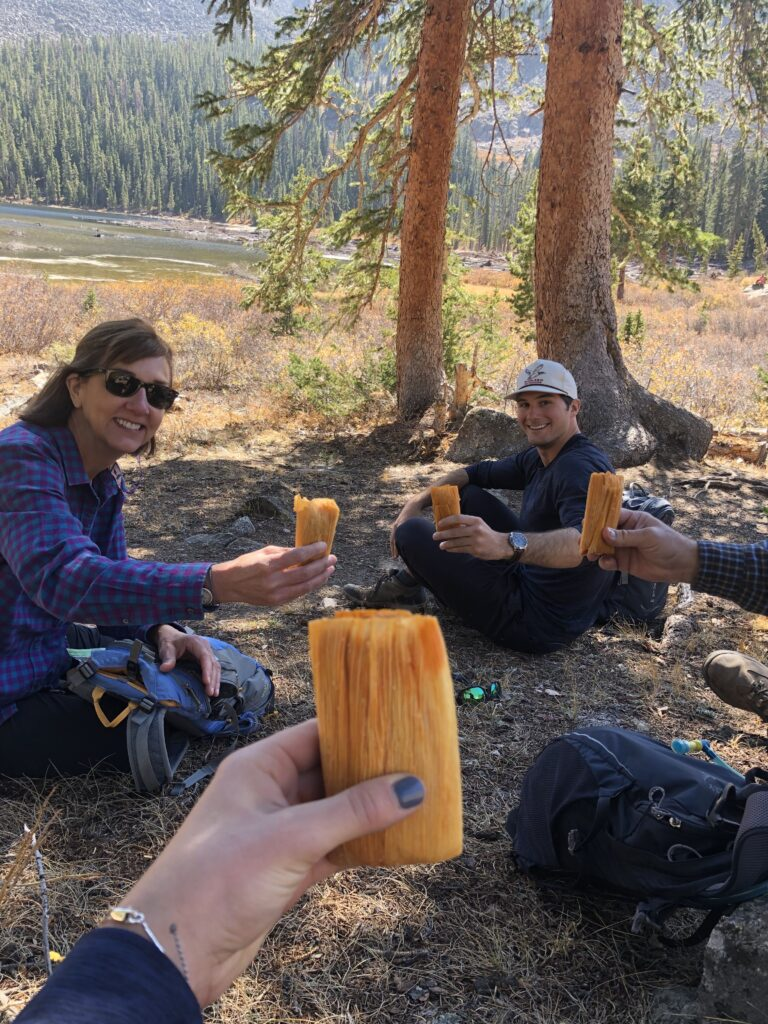 Tamales while Hiking in BV Colorado
