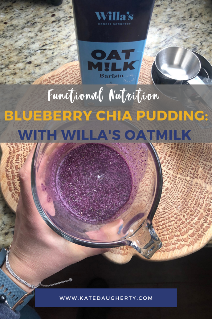 Willa's Oat Milk Blueberry Chia Puding