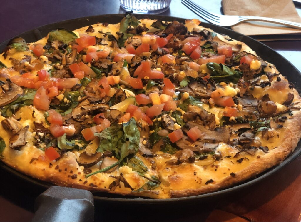 Veggie Pizza Gluten Free at Moose's Tooth Pizza in Anchorage AK