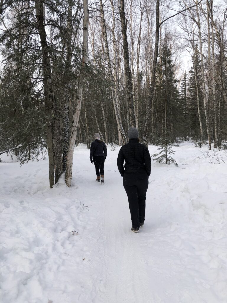Winter Hiking in Alaska - Bicentennial Park