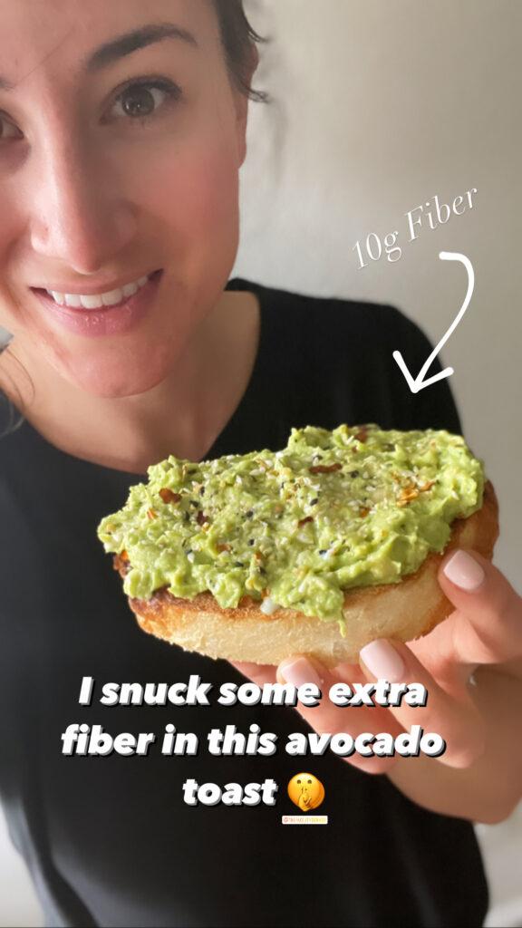 Avocado Toast with extra fiber from beans