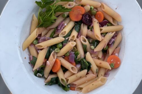 Fresh Summer Pasta with Lemon and Green Peas made with Willa's Oat Milk