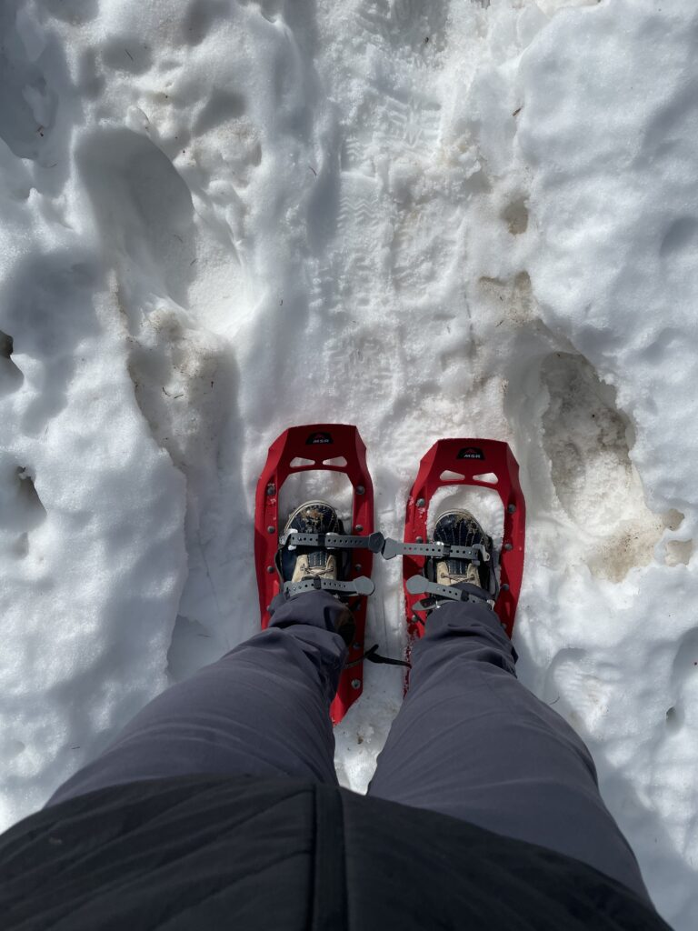Snowshoes necessary on Culebra descent