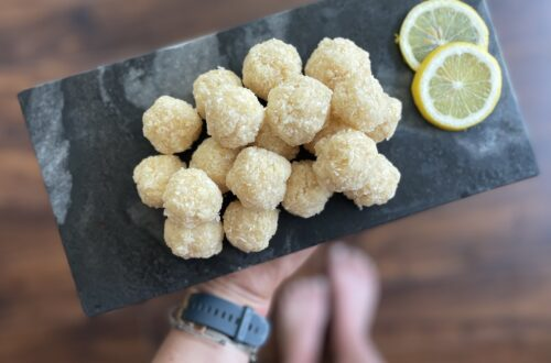 AIP Lemon Coconut Power Balls autoimmune protocol snack idea