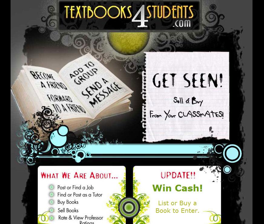 Website design for student textbook reseller.
